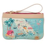 Greetings from Florida Zip Wristlet